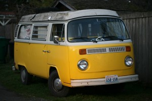 Yellow VW bus by Gordon Lee