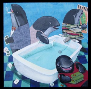 Four Immoral Porpoises & Bathtub Of Gin by Sue Clancy
