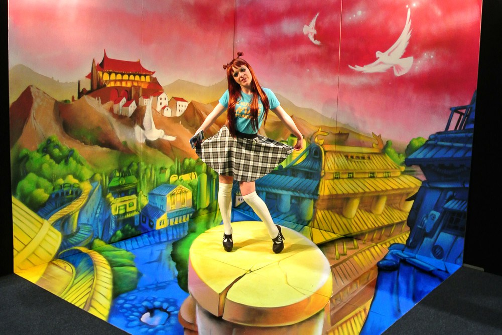 Animax-Sony-Anamorphic-artwork-for-the-London-Comic-Con-MCM-Comic-Con-17 by Sergio - Odeith Http://www.odeith.com