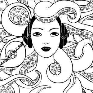 Octopus by Irene Raspollini http://ireneraspollini.wix.com/irene-raspollini-art