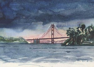 Golden Gate after Rain by Kate Peper