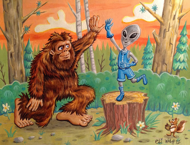 bigfoot alien by Eli Wolff