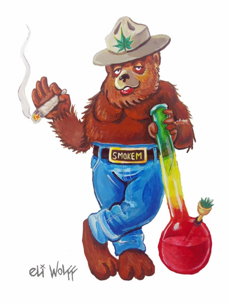 smoked out bear by Eli Wolff