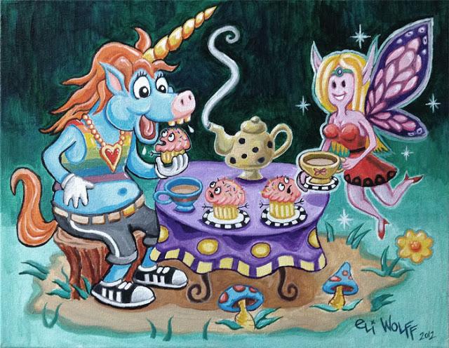 Unicorn tea by Eli Wolff