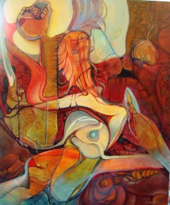 Aztec in agony oil on canvas 120x100cm iunie 2011