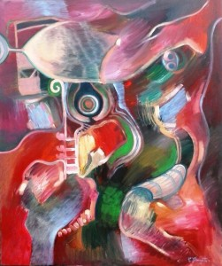Elegy of the wine oil on canvas 120x100cm noiembrie 2014