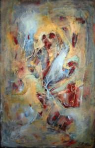 Poltergeist oil on canvas 100x70cm august 2010