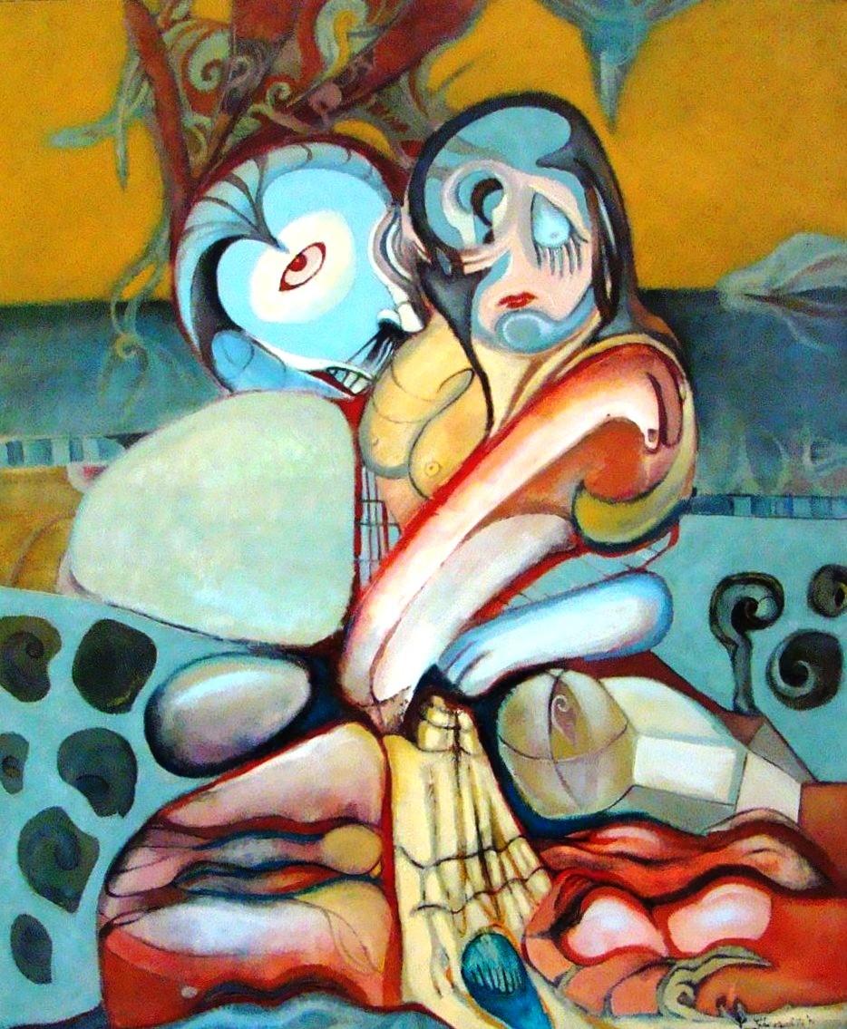 The couple oil on canvas 120x100cm iulie 2010