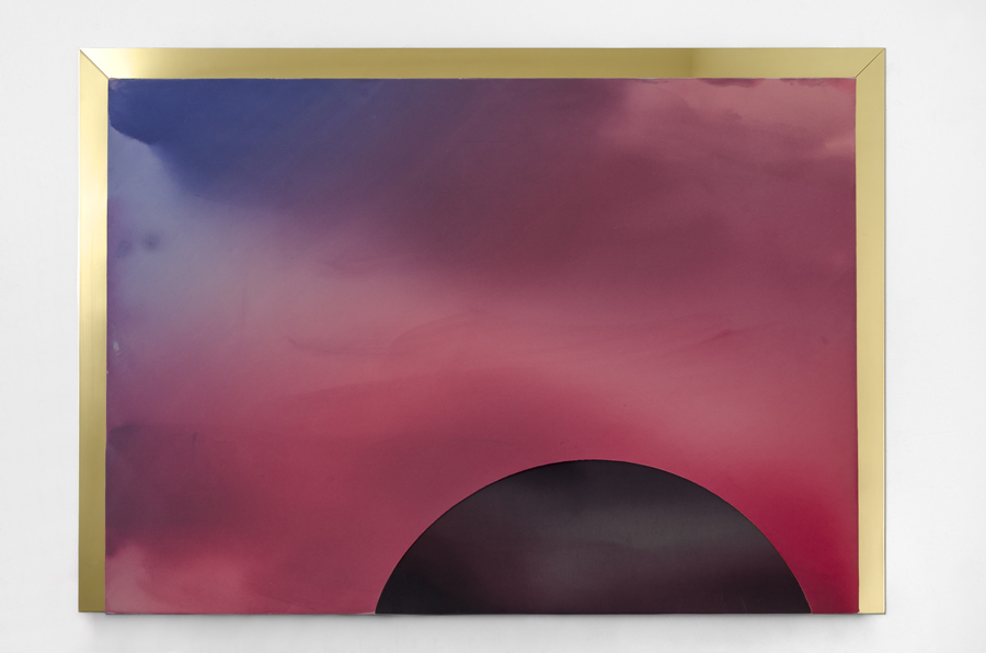 MARA DE LUCA Collins Avenue 1 2015 mixed media on canvas with brass plated elements 36 x 52 inches (91.4 x 132.1 cm) Photo courtesy of Quint Gallery and the artist