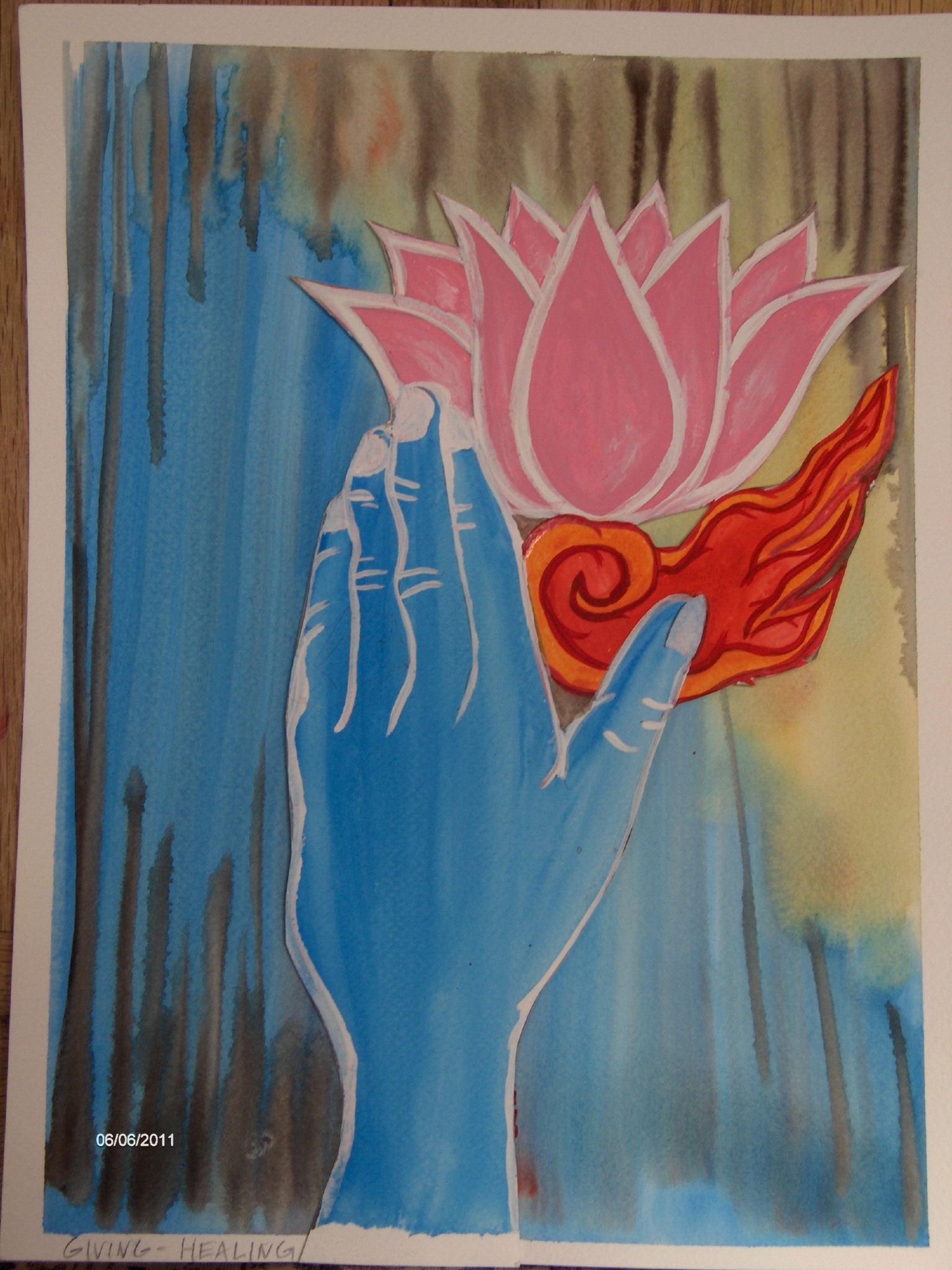 giving healing by Deana Plymale