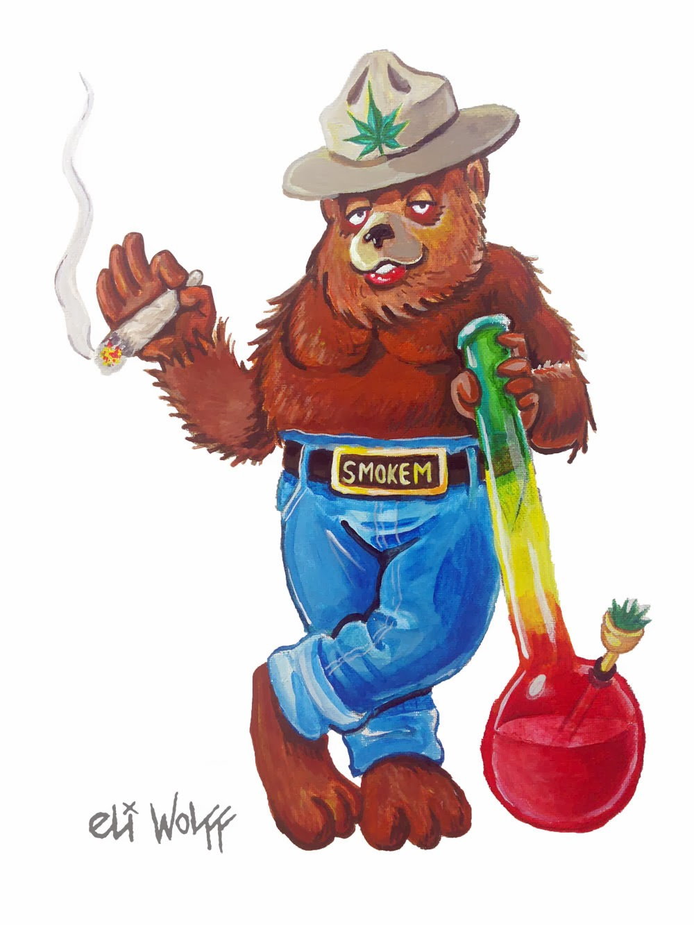 smoked_out_bear