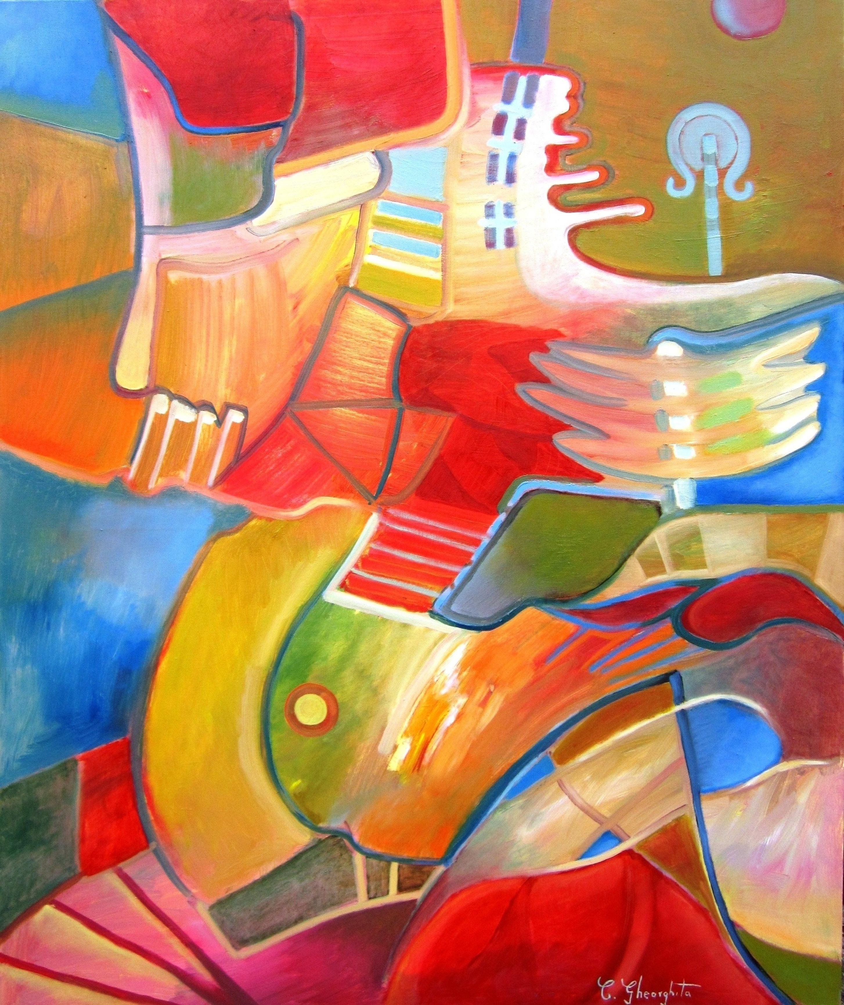 Exuberance  oil on canvas  120x100cm septembrie 2014