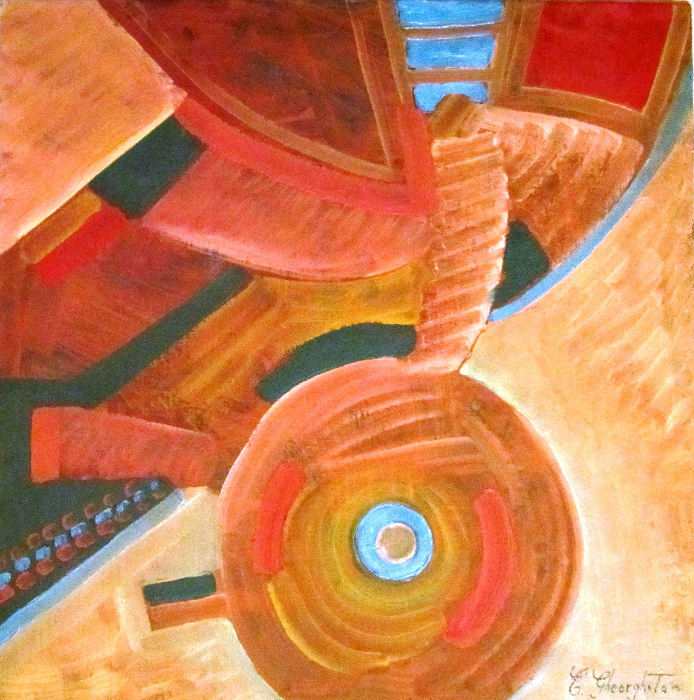Master's wheel  oil on canvas  45x45cm decembrie 2015