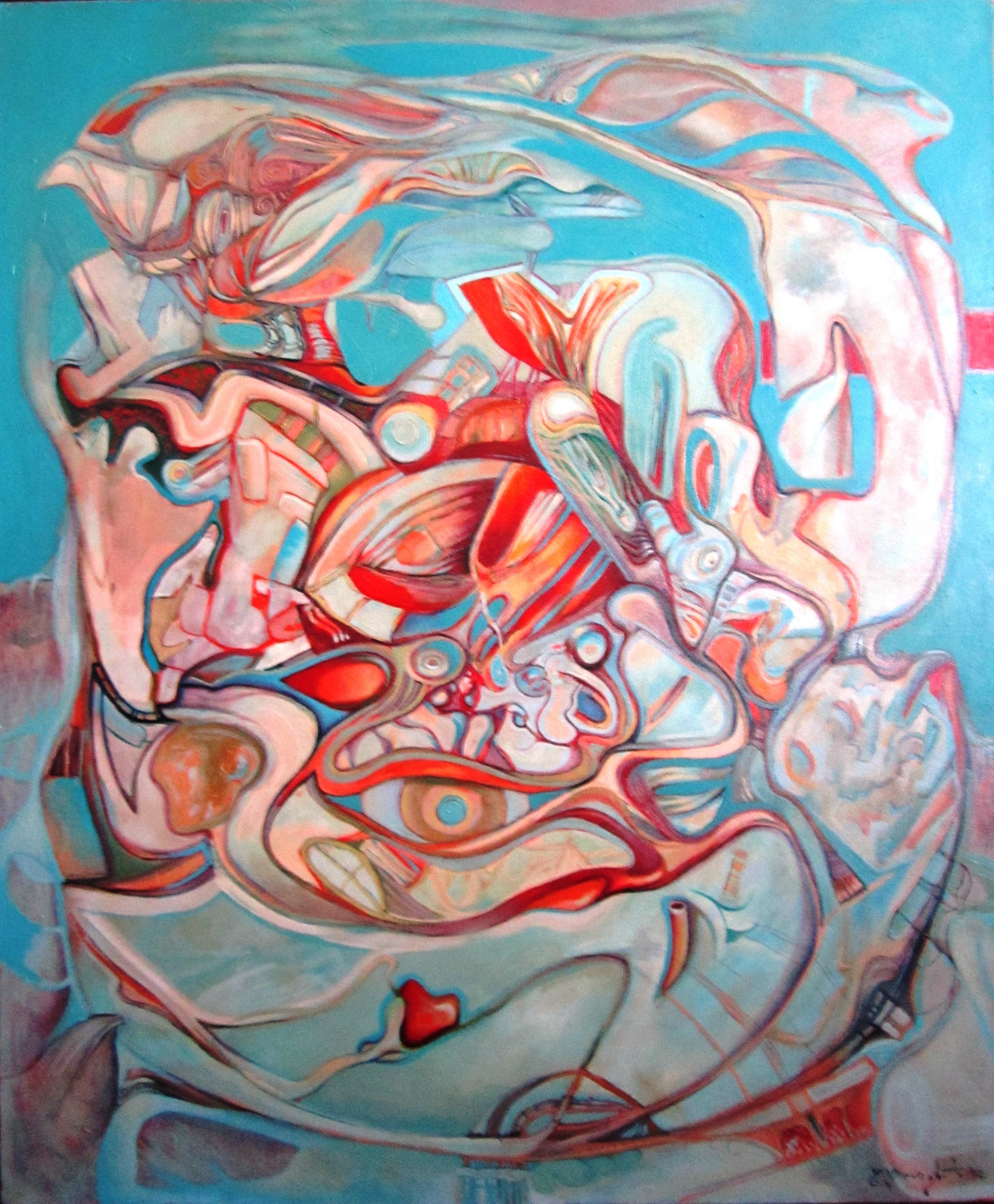 Noah' ark  oil on canvas  120x100cm noiembrie 2012