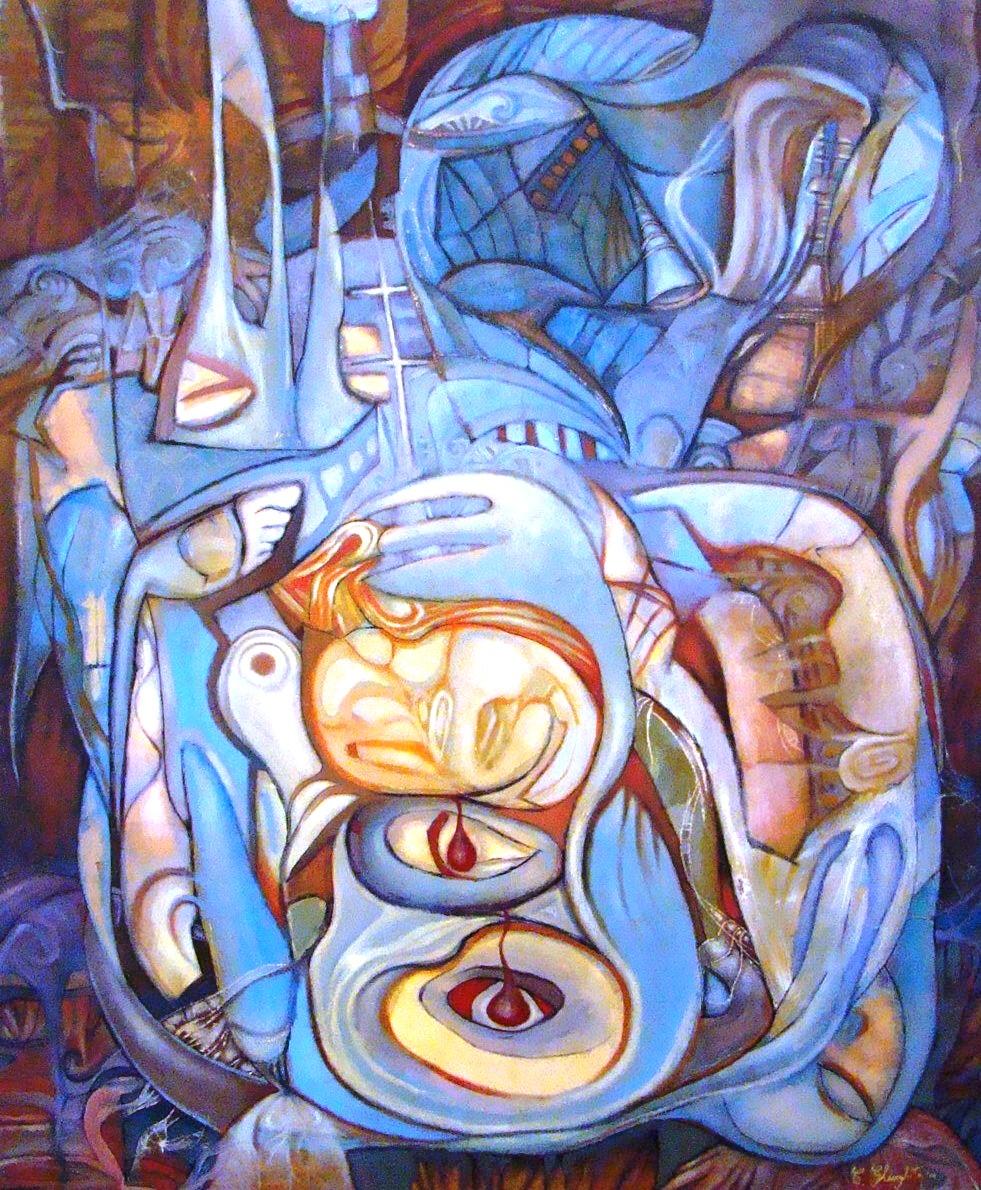The abortion  oil on canvas  120x100cm iunie 2011